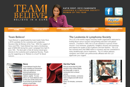 Katie Rost's Team Believe For LLS